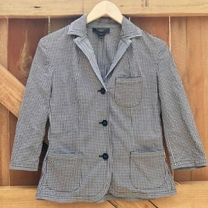 Talbots 8P Blazer Jacket Cover Up Womens Checkered